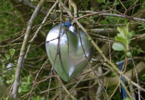 A silver heart in the trees of Lovewood