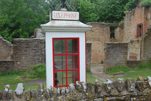 phone box at Tyneham