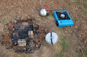camping cookware with camping kettle