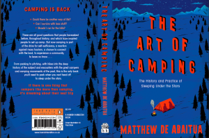 The cover of The Art of Camping: The History and Practice of Sleeping Under the Stars by Matthew De Abaitua
