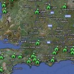 Low res Glamping Map of UK campsites