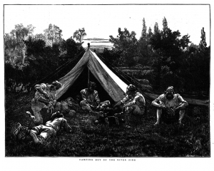 Camping out by the riverside 1873