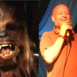 Chewbacca and Michael Eavis