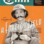Cover of the new issue of The Chap featuring a gentleman in pith helmet and binoculars