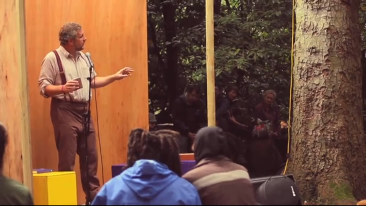 Matthew De Abaitua talking about The Art of Camping at The End of the Road Festival