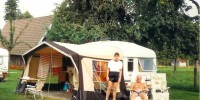 Matthew De Abaitua, Eddie Humphreys and caravan
