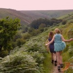 Walking along Doone Valley in Devon