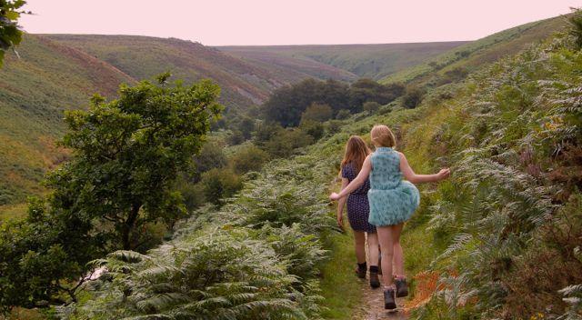 Walking along Doone Valley in Devon