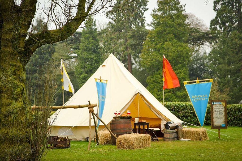 Yurt at Warwick Castle