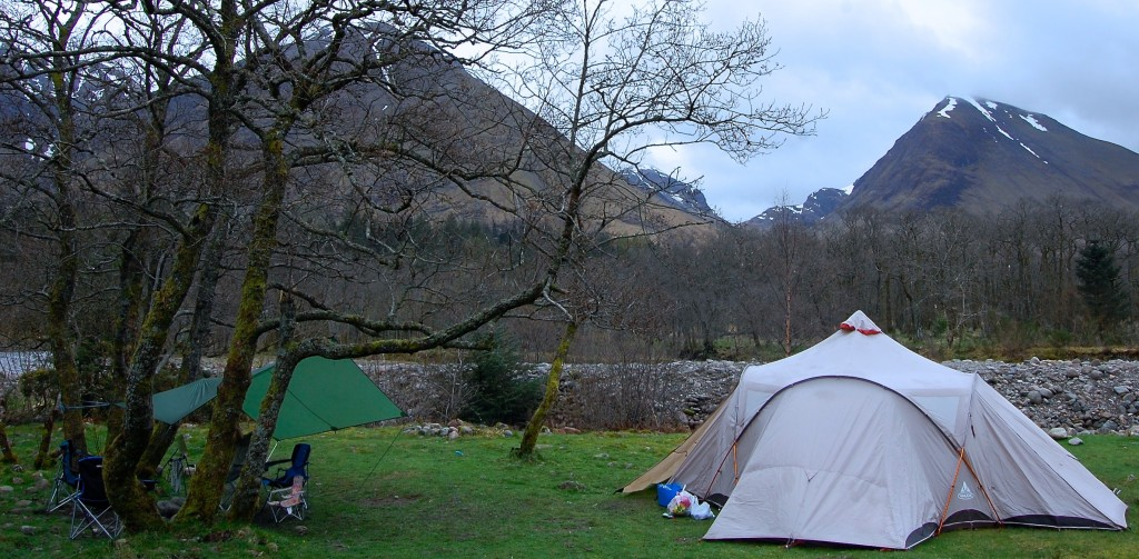 Our camp at Red Squirrel in Glencoe.
